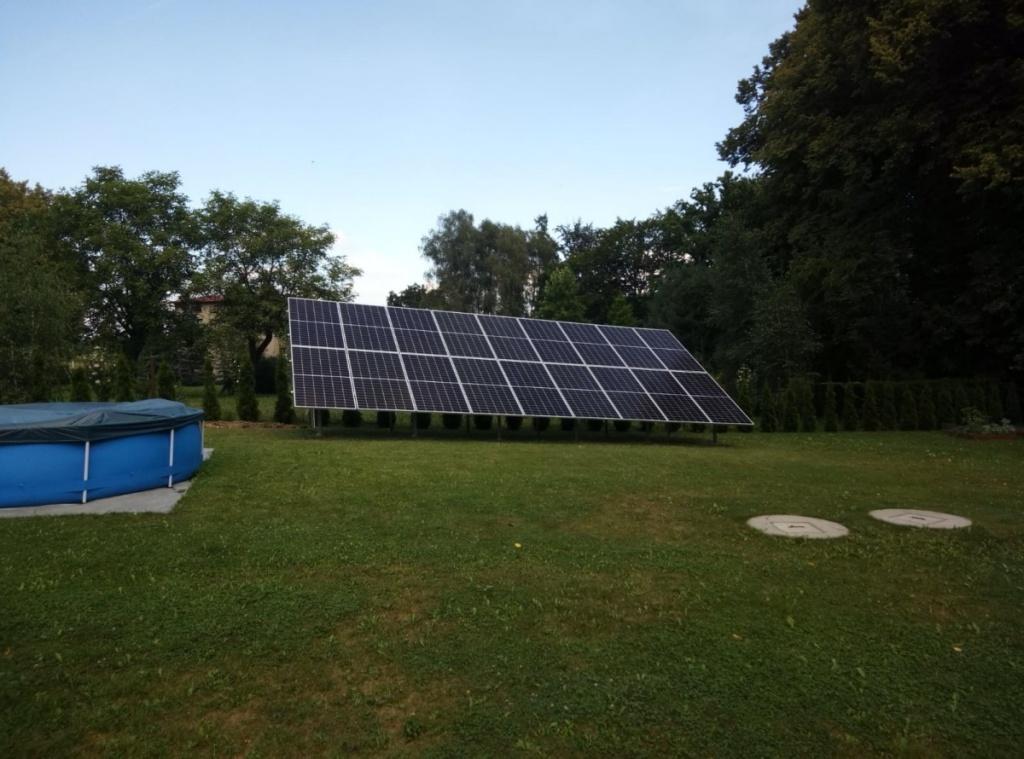 fotowoltaika panele instalacji energii prądu słońca
